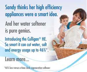 Introducing the Culligan HE water softener. Click here to learn more.